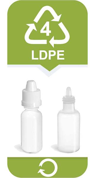 <strong>Polietylen małej gęstości</strong></br> • nadaje się do wielokrotnego użytku</br> • mniej bezpieczny niż 02 HDPE i 05 PP</br> Używany jest głównie w branży spożywczej i przemyśle farmaceutycznym. Służy do produkcji wielu rodzajów opakowań do żywności. Nadaje się do recyklingu.